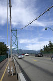 Lew bramy most Vancouver Fotografia Stock