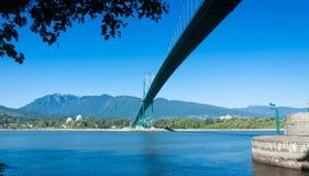 Lew bramy most Vancouver Zdjęcia Stock
