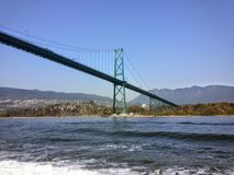 Lew bramy most Vancouver, BC Zdjęcia Royalty Free
