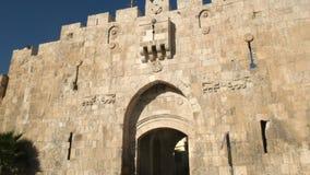 Lew bramy wejście stary miasto Jerusalem w Israel zbiory