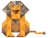 Lew budujący trójgraniaści elementy Obrazy Stock