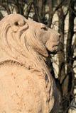Lew chroni Brunswick zabytek, Alps uprawia ogródek, Genewa, Switzerla fotografia royalty free