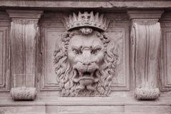 Lew głowa na fasadzie Pitti pałac muzeum, Florencja Zdjęcie Royalty Free