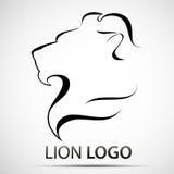 Lew głowy profilu logo Akcyjny wektor Zdjęcia Royalty Free