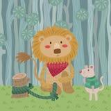 Lew i mysz royalty ilustracja