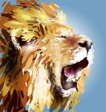 lew jest głównym ilustracyjny ilustracji