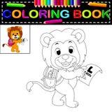 Lew kolorystyki książka ilustracja wektor