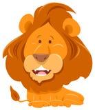 Lew kreskówki śmieszny zwierzęcy charakter ilustracja wektor