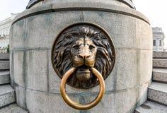 Lew na Sławnym zabytku miasto założyciele, Odessa Ukraina Zdjęcie Royalty Free
