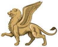 lew oskrzydlony ilustracja wektor