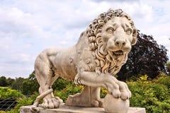 Lew rzeźba obraz royalty free