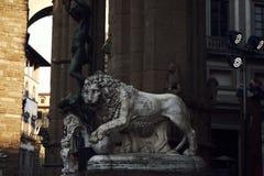 Lew rzeźba zdjęcie stock