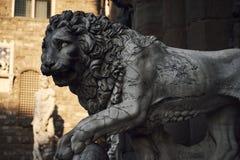 Lew rzeźba fotografia stock