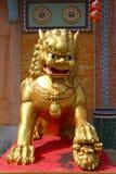 Lew rzeźba Obrazy Stock