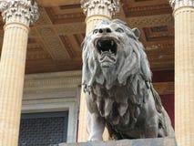 Lew rzeźba Obraz Stock