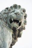 Lew statua Zdjęcia Royalty Free