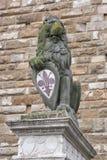 Lew statua blisko do Uffizi galerii w Florencja zdjęcie royalty free