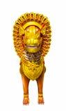 Lew statua przy świątynią, Tajlandia Fotografia Stock
