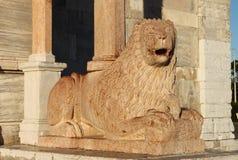 Lew statua w świętego Cyriacus katedrze Zdjęcie Royalty Free