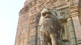 Lew statua w Angkor Wat zbiory