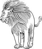 Lew w kreskowej sztuce ilustracji