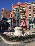 Lew Wasserman statue, Universal Studios, Orlando, FL. Lew Wasserman statue located in Universal Studios, Orlando, FL Stock Photos