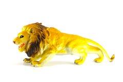 Lew zabawka odizolowywająca na bielu Zdjęcie Stock