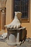 Lewa stopa Romański cesarz Constantine, Rzym Zdjęcie Royalty Free