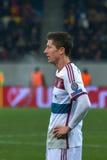 lewandowski罗伯特 在FC Shakhtar之间的比赛对FC拜仁 拥护同盟 库存照片