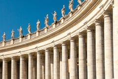 Lewe skrzydło partii St Peter ` s kwadrata kolumnada II zdjęcie stock