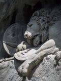 Lewendenkmal, het oriëntatiepunt van het leeuwmonument in Luzerne, Zwitserland royalty-vrije stock foto's