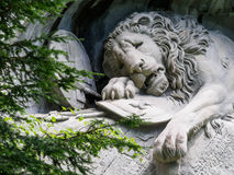 Lewendenkmal, the lion monument landmark in Lucerne, Switzerland Royalty Free Stock Photo