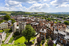 Lewes Castle and Landscape. Lewes, East Sussex, England Stock Image