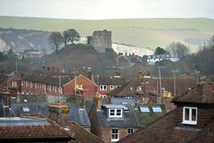 Lewes, East Sussex. Landscape of Lewes, county town of East Sussex, UK royalty free stock photos