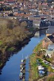 Lewes river. Lewes, East Sussex, showing the castle and river Ouse Stock Photos