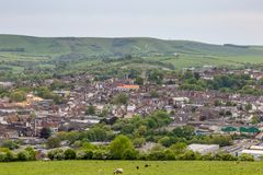 Lewes et campagne environnante images stock