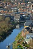 Lewes river. Lewes, East Sussex, showing the castle and river Ouse Royalty Free Stock Photo