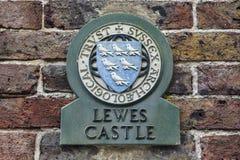 Lewes-Schloss Lizenzfreies Stockfoto