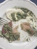 Lewi nadmiar mozzarelli sałatka z pesto kumberlandem fotografia royalty free