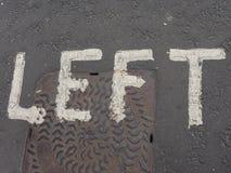 lewica znak na ulicie Obraz Stock