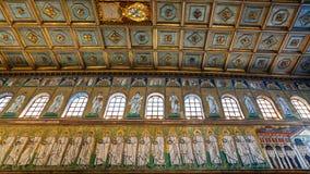 Lewicy ściana Sant Apollinare Nuovo Obraz Royalty Free