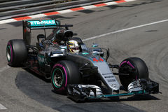 Lewis Χάμιλτον (GBR), ομάδα AMG Mercedes F1, 2016 Μονακό GP, ελεύθερη Στοκ Φωτογραφία