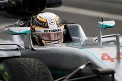 Lewis Χάμιλτον (GBR), ομάδα AMG Mercedes F1, F1 εξεταστικός Barcellon Στοκ Εικόνα