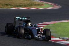 Lewis Χάμιλτον (GBR), ομάδα AMG Mercedes F1, F1 εξεταστικός Barcellon Στοκ Φωτογραφία