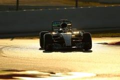 Lewis Χάμιλτον (GBR), ομάδα AMG Mercedes F1, F1 εξεταστικός Barcellon Στοκ εικόνες με δικαίωμα ελεύθερης χρήσης