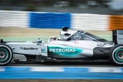 Lewis Χάμιλτον - Jerez 2015 Στοκ Εικόνες