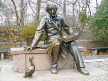 Lewis Carroll Statue. In bronze in Central Park New York Stock Image