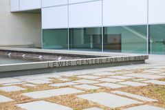 Lewis center for the arts. Princeton University stock photography