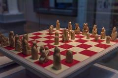 Lewis chessmen on display Royalty Free Stock Photo