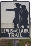 Lewis and Clark Trail sign Royalty Free Stock Photos